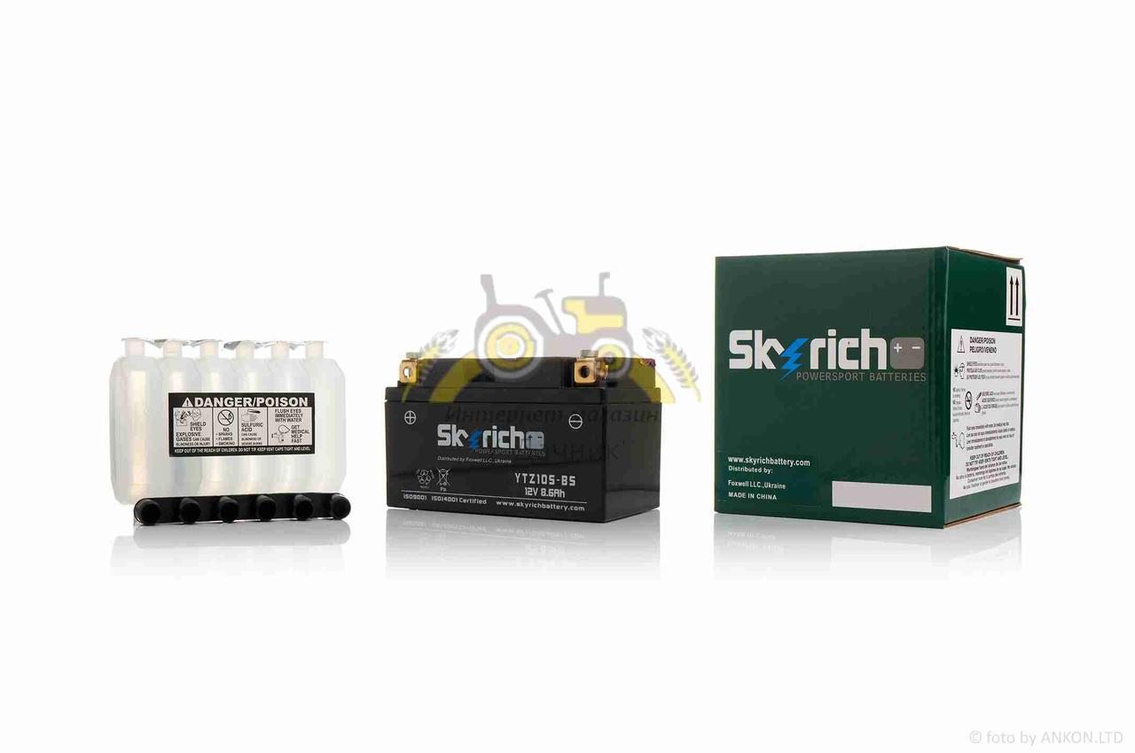 """АКБ  12V 8.6A  кислотный  150-90-95mm  YTZ10S-BS  """"SKYRICH"""""""