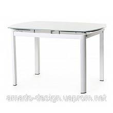 Стол обеденный Т-600 (120-180)*80*75(H) Vetro Белый