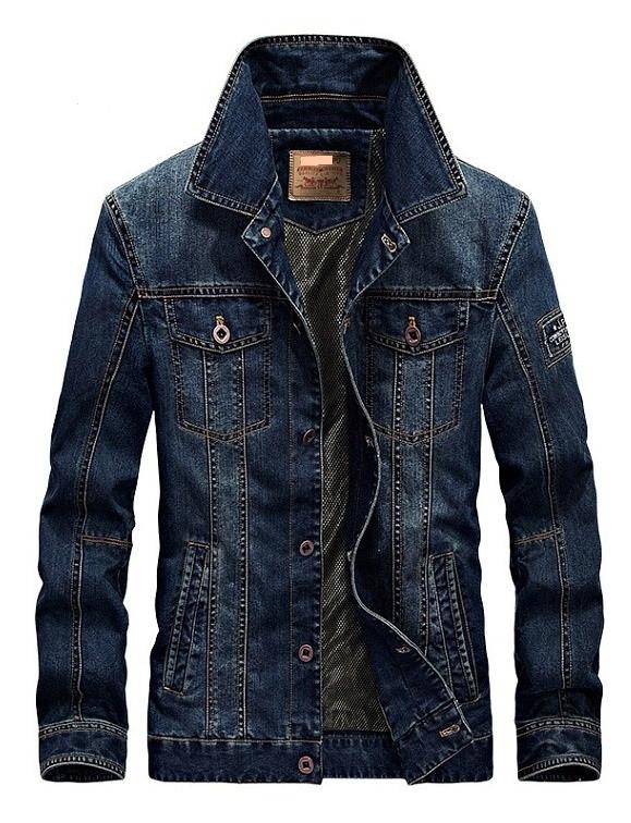 Jeep original 100% хлопок Мужская джинсовая куртка джип