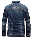 Jeep original 100% хлопок Мужская джинсовая куртка джип, фото 4