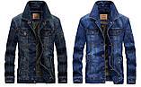 Jeep original 100% хлопок Мужская джинсовая куртка джип, фото 5