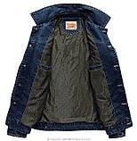 Jeep original 100% хлопок Мужская джинсовая куртка джип, фото 3