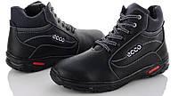 Мужские зимние ботинки в стиле Ecco Прошитые, с мехом, фото 1