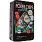 Набор фишек для покера 100 с номиналом в металлической коробке, фото 2