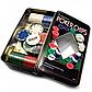 Набор фишек для покера 100 с номиналом в металлической коробке, фото 3