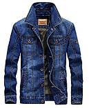Jeep original 100% хлопок Мужская джинсовая куртка джип, фото 2