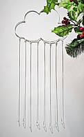 Декоративна підвіска Дроти-Крученики Хмаринка з дощем 30х75 см