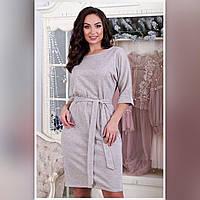 Женское нарядное платье 2066 большой размер (50 52 54 56) (цвет меланж) СП, фото 1