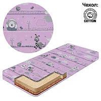 Матрас кокос-поролон-гречка-хлопок 1 Беби-Текс-Зебра розовый - 221163