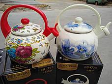 Чайник эмалированный со свистком Edenberg EB-1779 - 2,5л, фото 3