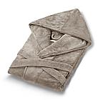 Халат бежевый с капюшоном Fiber Soft 100% аэрохлопок, фото 2