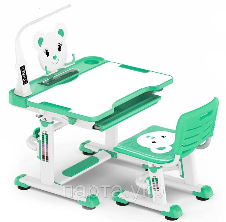 Комплект парта и стульчик Evo-Kids BD-04 XL 80см Teddy (с лампой и подставкой), 4 цвета