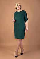 Повседневное замшевое платье Делина плюс сайз, фото 1