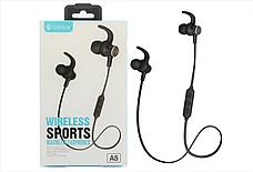 Спортивные беспроводные Bluetooth наушники Celebrat A8 | Super Bass, фото 2