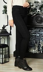 Джинсы - джеггинсы черные на меху размер M,52