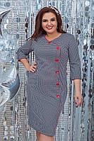 Женское платье 204 большой размер (52 54 56 58) СП, фото 1