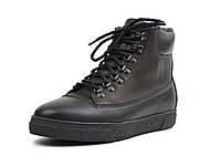 Зимние ботинки кожаные коричневые на меху мужская обувь больших размеров Rosso Avangard Taiga North Lion BS