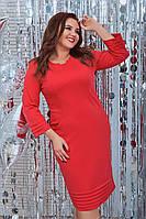 Женское платье 129 большой размер (52 54 56 58) (цвет красный) СП, фото 1
