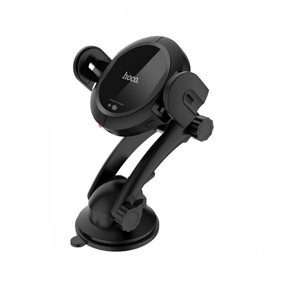 Холдер Hoco CA35 Plus auto-induction wireless fast charging in-car phone holder Black