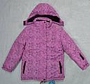 Зимняя куртка для девочки розовая (Quadrifoglio, Польша), фото 2