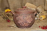 Супник из красной глины Рябина 1,7 л.