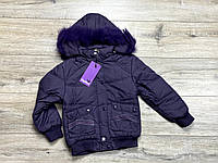 Теплая курткана синтепоне ( подкладка- флис). Съемный капюшон. 5 лет.