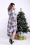 ❤/ Женское длинное платье-рубашка с узором 01321 / Размер 42-72 / Батал, фото 2