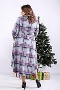 ❤/ Женское длинное платье-рубашка с узором 01321 / Размер 42-72 / Батал, фото 3