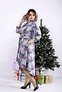 ❤/ Женское длинное платье-рубашка с узором 01321 / Размер 42-72 / Батал, фото 4