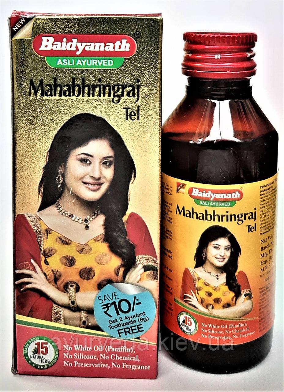 Масло МахаБрингарадж, Маха Брингарадж Таил, Байдьянатх, улучшение роста волос Mahabhringraj Tail, Baidyanath,
