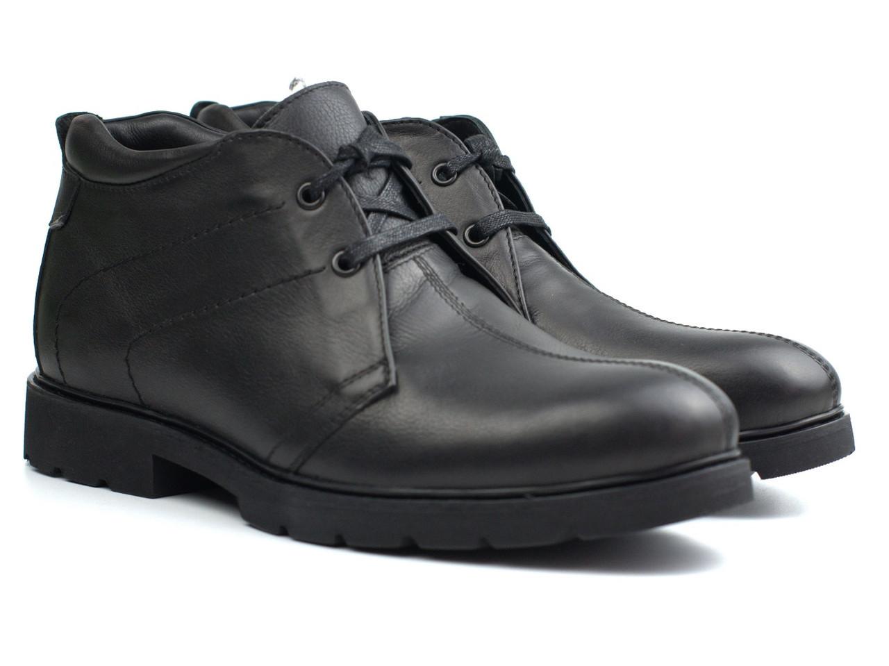 Распродажа последний 42 размер зимние ботинки кожаные черные дезерты мужская обувь на меху Rosso Avangard