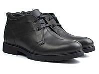 Распродажа последний 42 размер зимние ботинки кожаные черные дезерты мужская обувь на меху Rosso Avangard, фото 1