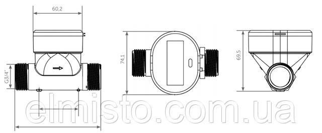 Габаритные и установочные размерыQALCOSONIC W1