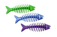 Sum-Plast Dent-a-Chew Gryzak игрушка для собак неоновая рыбка с запахом ванили, 14см