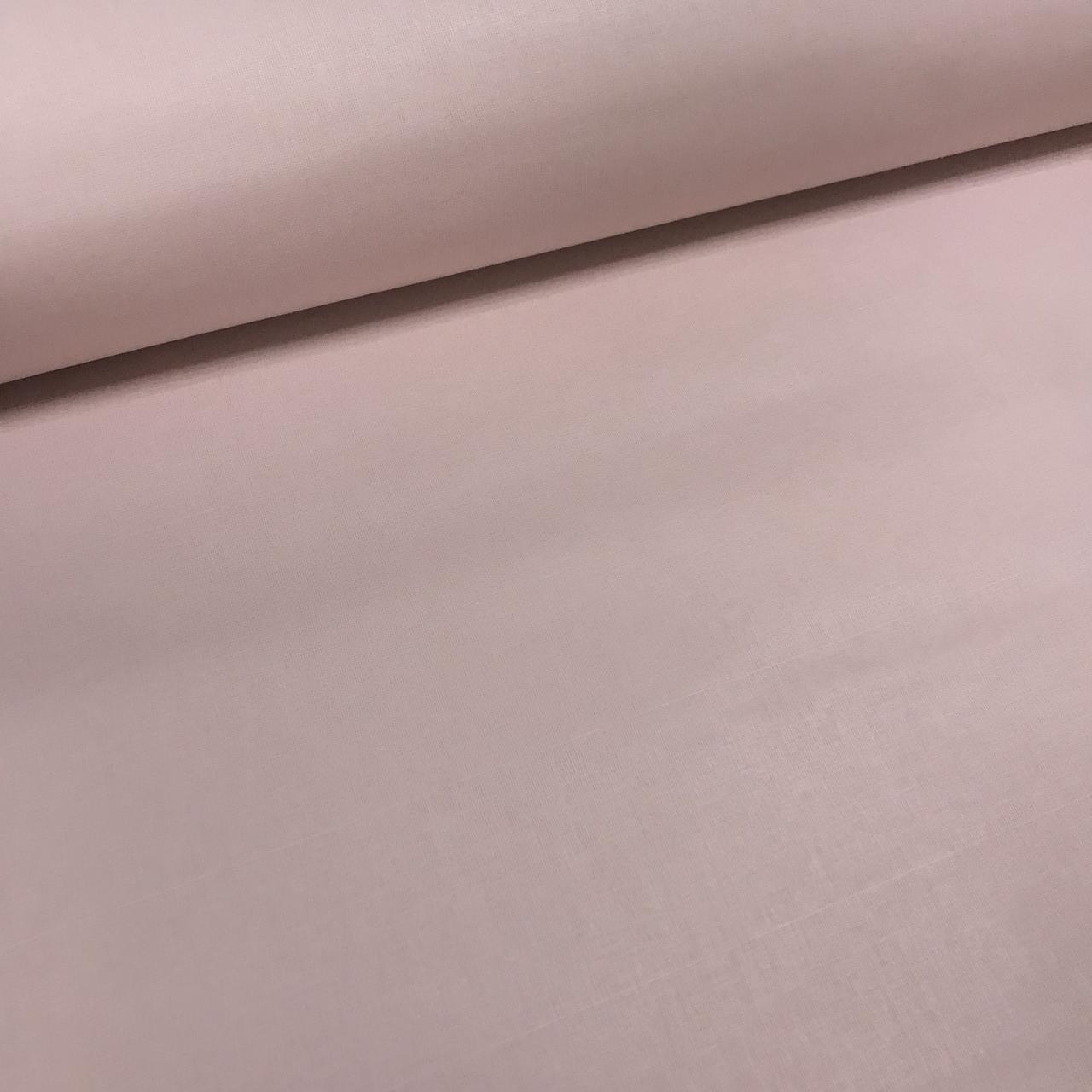 Хлопковая ткань однотонная темно-пудровая