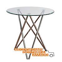 Стол обеденный Т-316 прозрачный D80*73(H) Vetro
