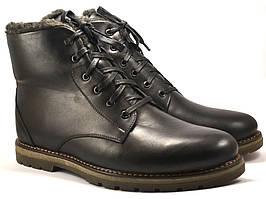 Розпродаж останній 48 розмір зимові черевики на овчині шкіряні чоловіче взуття Rosso Avangard