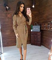 Женское нарядное платье 1021 (S(42-44), М(44-46) (цвет бронза) СП