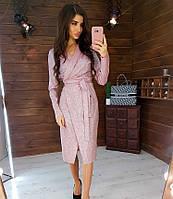 Женское нарядное платье 1021 (S(42-44), М(44-46) (цвет пудра) СП