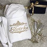 Халат с вышивкой именной белый, фото 9