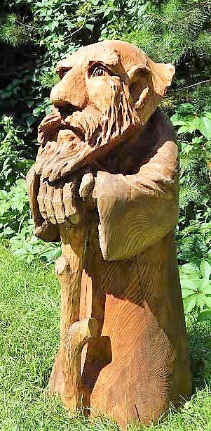 Скульптуры из дерева сказочных персонажей, ручная резьба по дереву (Hand Carved Artwork 26)
