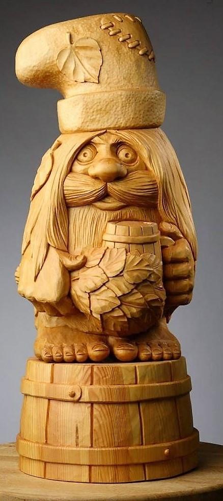 Скульптури з дерева казкових персонажів, ручна різьба по дереву (Hand Carved Artwork 25)