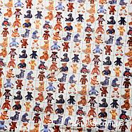 54008 Ткань для декора с изображением мишек. Подойдет для шитья и декора интерьера., фото 2