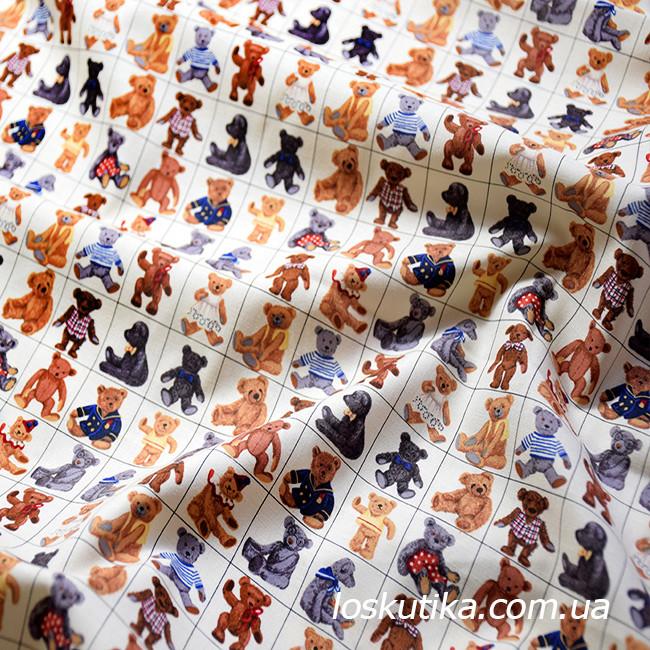54008 Ткань для декора с изображением мишек. Подойдет для шитья и декора интерьера.
