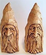 Скульптуры из дерева сказочных персонажей, ручная резьба по дереву (Hand Carved Artwork 20)