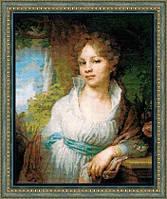 100/048 Портрет М.И. Лопухиной по мотивам картины В.Л. Боровиковского