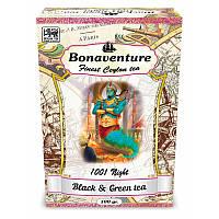 Чай Bonaventure чорний і зелений «1001 Ніч» Суниця і тропічні фрукти 100г