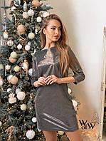 Женское нарядное платье 058 (42-44,44-46) (цвет черный) СП