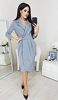 Женское нарядное платье 4021/1 (42-44,46-48) (цвет голубой) СП