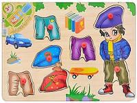 Деревянная игрушка Woody MD 0215 Рамка-вкладыш